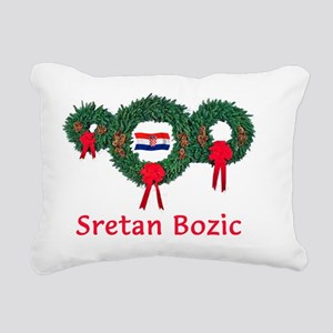Croatia Christmas 2 Rectangular Canvas Pillow