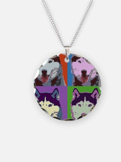 Husky Pop Art Necklace