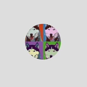 Husky Pop Art Mini Button