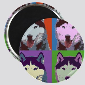 Husky Pop Art Magnet