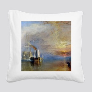 William Turner The Fighting T Square Canvas Pillow