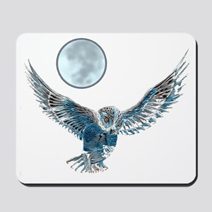 Snow owl blanket Mousepad