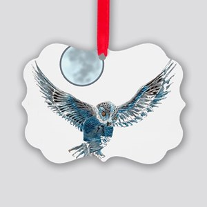 Snow owl blanket Picture Ornament