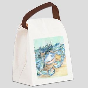 crab seaside beach throw Canvas Lunch Bag