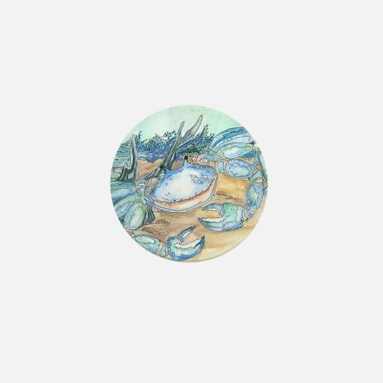 crab seaside beach throw Mini Button