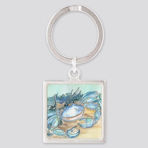 crab seaside beach throw Square Keychain
