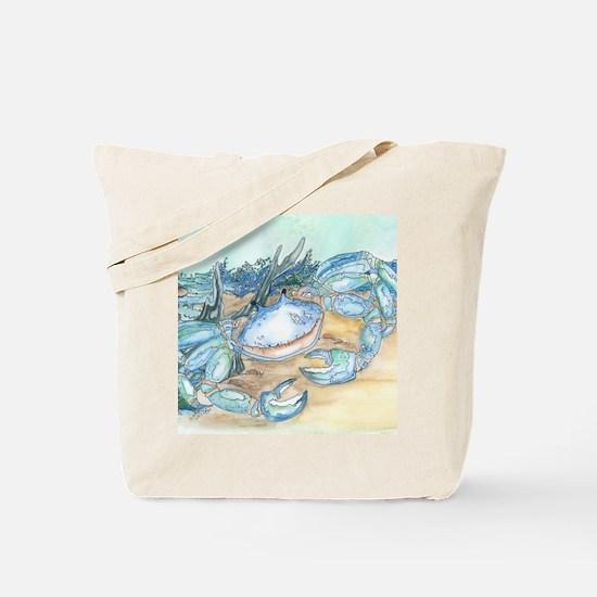 crab seaside beach throw Tote Bag