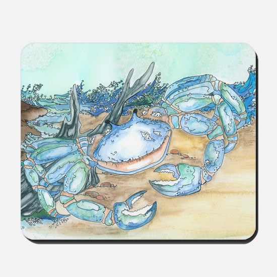 crab seaside beach throw Mousepad