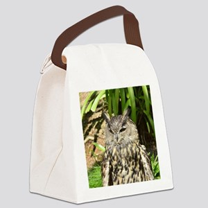 Eurasian Eagle Owl Canvas Lunch Bag