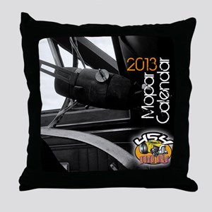 2013calendarmopar cover Throw Pillow