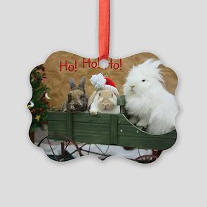 Bunny Trio Christmas Picture Ornament