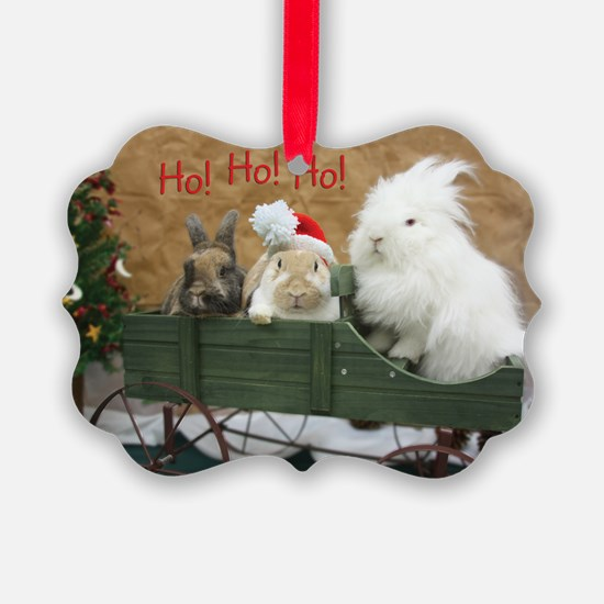 Bunny Trio Christmas Ornament