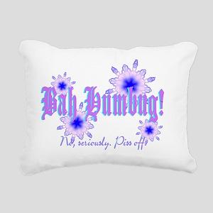 Bah Humbug! No, really. Rectangular Canvas Pillow