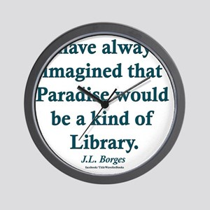 Paradise is a Library Wall Clock