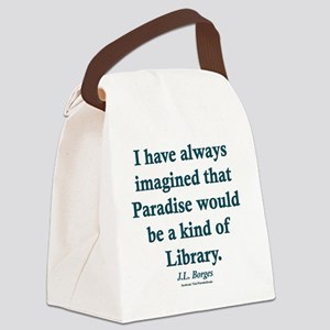 Paradise is a Library Canvas Lunch Bag