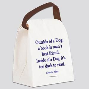 Outside of a Dog Canvas Lunch Bag