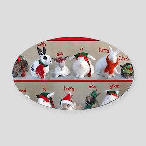 Twelve Buns of Christmas Oval Car Magnet