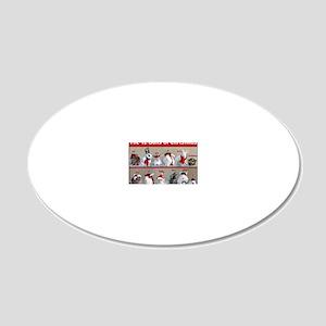 Twelve Buns of Christmas 20x12 Oval Wall Decal