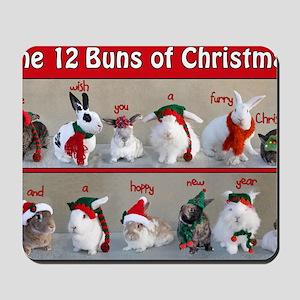 Twelve Buns of Christmas Mousepad