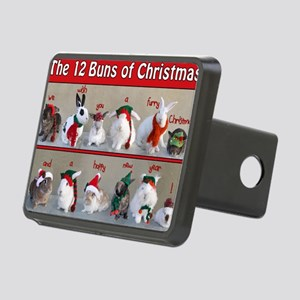 Twelve Buns of Christmas Rectangular Hitch Cover