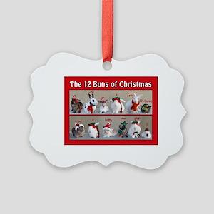 Twelve Buns Of Christmas Picture Ornament