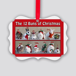 Twelve Buns of Christmas Picture Ornament