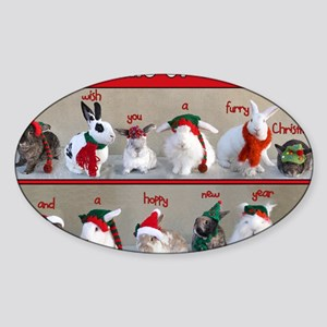 Twelve Buns of Christmas Sticker (Oval)