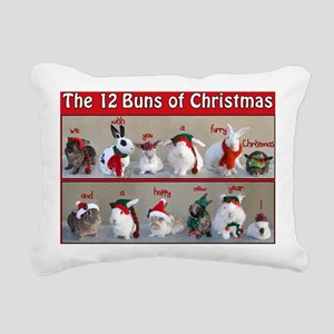Twelve Buns of Christmas Rectangular Canvas Pillow