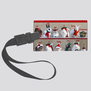 Twelve Buns of Christmas Large Luggage Tag