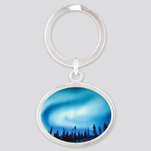 Winter Solstice Cards Oval Keychain