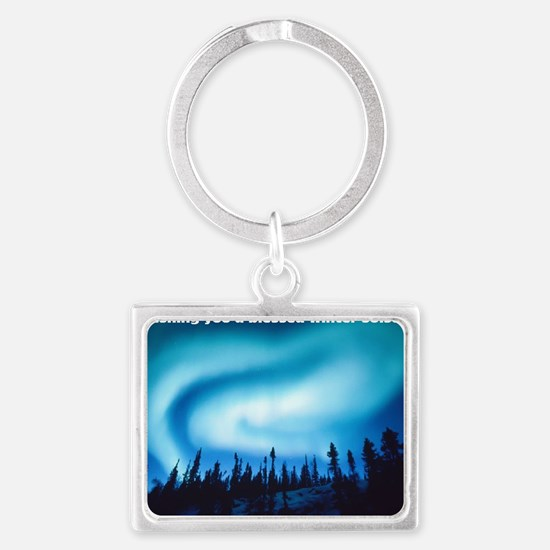 Winter Solstice Cards Landscape Keychain