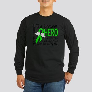 D Lymphoma Bravest Hero I Long Sleeve Dark T-Shirt