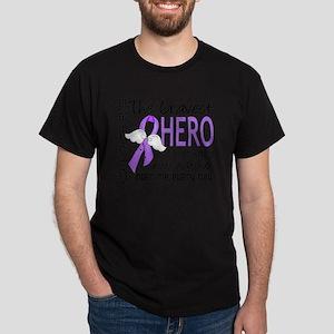D Hodgkins Lymphoma Bravest Hero I Ev Dark T-Shirt