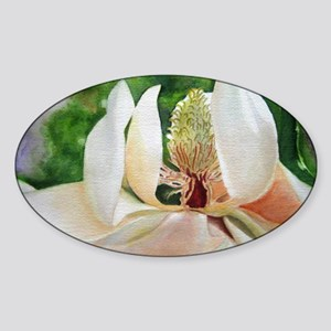 Magnolia Majesty Sticker (Oval)