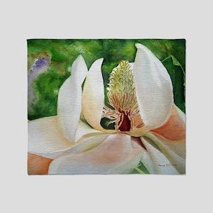 Magnolia Majesty Throw Blanket