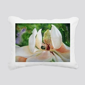 Magnolia Majesty Rectangular Canvas Pillow