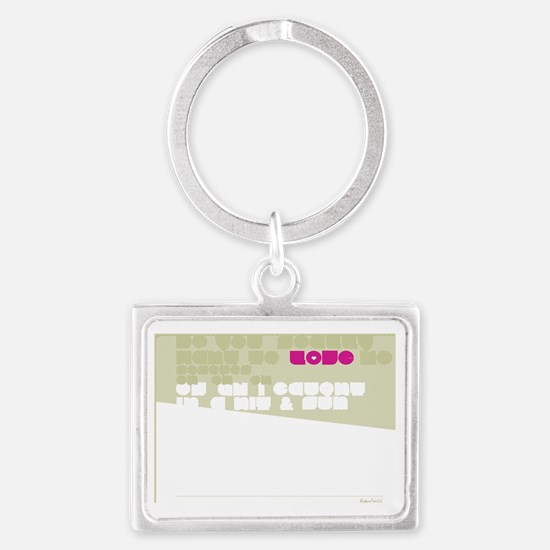 Straigh UP! Back Landscape Keychain