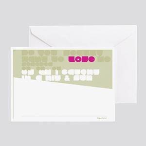 Straigh UP! Back Greeting Card