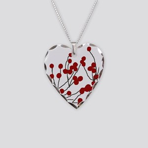 winterberries Necklace Heart Charm