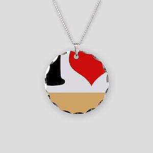 I heart Twinkies Necklace Circle Charm