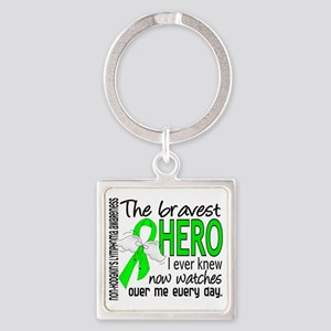D Non-Hodgkins Lymphoma Bravest He Square Keychain