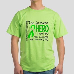 D Non-Hodgkins Lymphoma Bravest Hero Green T-Shirt