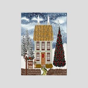 Christmas Drapes 5'x7'Area Rug