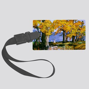 Indian Autumn Remembered Large Luggage Tag
