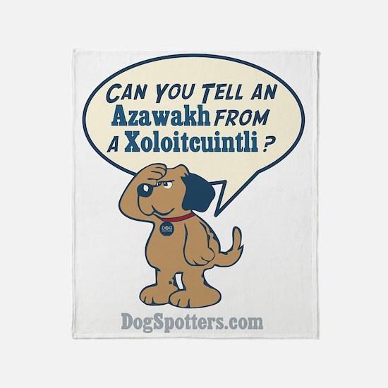 Can you tell an Azawakh from a Xoloi Throw Blanket