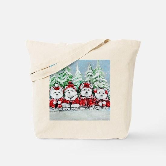 Christmas Westies Tote Bag