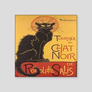 """Le Chat Noir Square Sticker 3"""" x 3"""""""