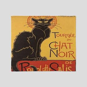 Le Chat Noir Throw Blanket