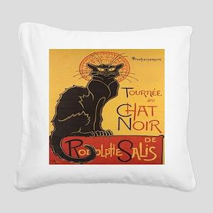 Le Chat Noir Square Canvas Pillow