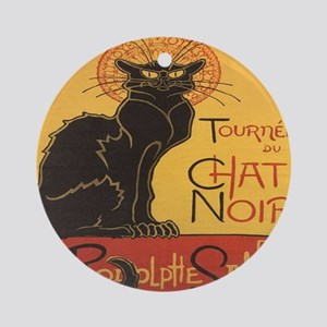 Le Chat Noir Round Ornament